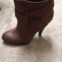 Gently Worn Aldo Brown Ankle Boots Womens Size 8.5 Photo