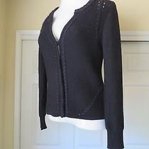 Gently Worn Elie Tahari Black Sweater Size M Photo