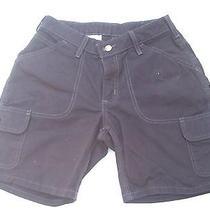 Gently Worn Pair of Carhartt Cargo Women's Black Shorts Size 2 Photo