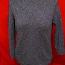 Gently Worn Talbots Petites Charcoal Gray100% Pure Cashmere Sweater Large Photo