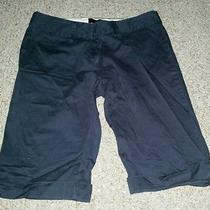 Gently Worn the Limited Cassidy Fit Navy Bermuda Shorts - Size 8 Photo