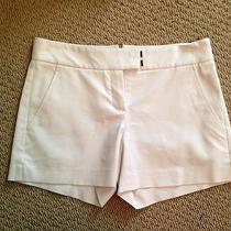Gently Worn Theory Ivory Dressy Shorts Sz 2 Photo