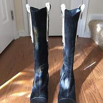 Gently Worn Women's Ugg Suede Black Boots Size 7.5 Photo