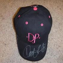 Genuine Autographed Donald J Pliner Black &pink Djp Baseball Cap O/s Photo