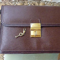 Genuine Bally Wrist Strap Clutch Purse With Lock & Key /  Estate & Nice Photo