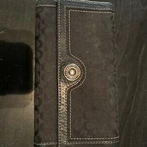 Genuine Black Coach Wallet.  Barely Used.   Photo