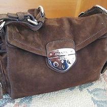 Genuine Brown Suede Prada Bag -- Adorable -- Gently Worn Photo