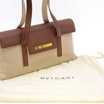 Genuine Bvlgari Logo Plate Handbag /shoulder Bag Photo