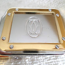 Genuine Cartier Santos Leather Belt Nos Buckle Card Box New Les Must De Rouge Photo