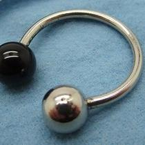 Genuine Cartier Sterling Silver and Onyx Key Chain With Felt Case  Photo