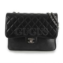 Genuine Chanel Lambskin Black Shoulder Bag Free Express Shipping  Photo