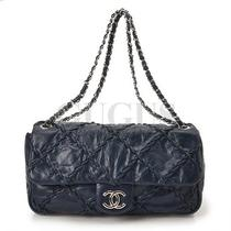 Genuine Chanel Vintage Flap Shoulder Bag Free Express Shipping  Photo