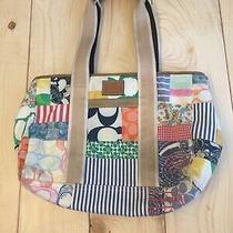 Genuine Coach Hamptons Bright Multi-Color Fabric Patchwork Tote Bag F12564 Photo