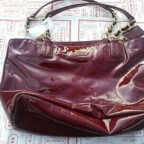 Genuine Coach Madison Patent Leather Tote Crimson F20484 358 Photo