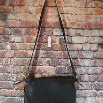 Genuine Coach Purse/handbag Black Leather Hobo Flap Shoulder Bag 4150 Photo