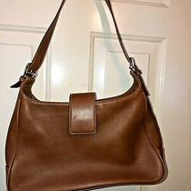 Genuine Coach Purse Handbag Shoulder Bag Brown Leather Medium Sized Photo
