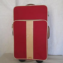 Genuine Coach Rolling Luggage Suitcase in Red  Photo