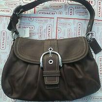 Genuine Coach Vintage Leather Purse Brown F15204 348 Photo