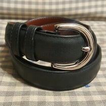 Genuine Coach Womens Black Leather Belt.  Size M Photo