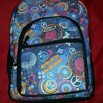 Genuine Dickies Girl's Multi-Color Geometric 4compartment School Backpack Euc  Photo
