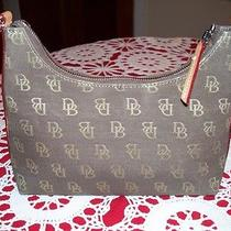 Genuine Dooney and Bourke Brown Hobo Handbag H1 117913 Photo