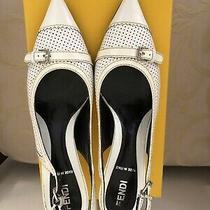 Genuine Fendi Sling Back Patent Leather Pump Size 7 1/2 Photo