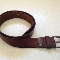 Genuine Fossil Brown Leather Belt Photo