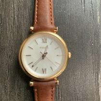 Genuine Fossil Carlie Mini Three-Hand Brown Leather Watch Photo