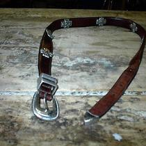 Genuine Fossil Leather Built With Beautiful Crosses in Metal Photo