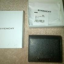 Genuine Givenchy Mens Bifold Leather Luxury Wallet Black Photo