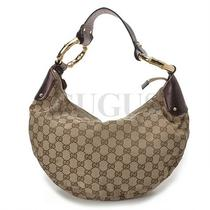 Genuine Gucci Bamboo Shoulder Bag(131038) Free Express Shipping  Photo