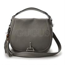 Genuine Gucci Gray Tote-Cum-Shoulder Bag(240236) Free Express Shipping  Photo