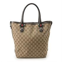 Genuine Gucci Jacquard Tote Bag(232970) Free Express Shipping  Photo