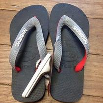 Genuine Kids Top Mix Black/grey/red Havaianas Bnwts in Size 29-30 Photo