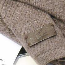 Genuine Lacoste Cotton Gray/tan Cotton/cachemire Blendl Scarf Photo