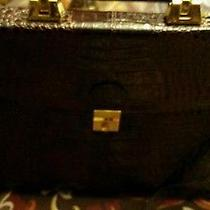 Genuine Leather Briefcase( Burgundy Croc Style)european handle& Lock / Key Photo