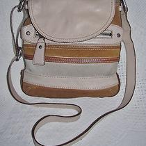 Genuine Leather Fossil Small Flap Harper Cross Body Purse Messenger Bag - Nice Photo
