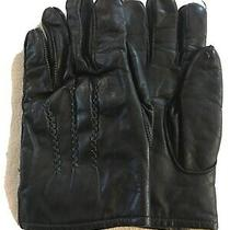 Genuine Leather Men's Gloves With Rabbit Fur Lining Small by Avon Photo