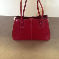 Genuine Leather Red Fossil Purse Photo