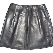 Genuine Leather Size 1 Black Skirt by Bebe Photo