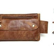 Genuine Leather Waist Bag Vintage Messenger Fanny Pack Bum Bag for Sport Hiking Photo