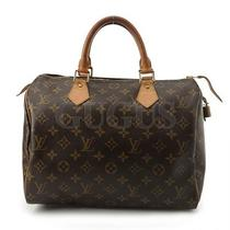 Genuine Louis Vuitton Monogram Speedy 30 Bag Free Express Shipping  Photo