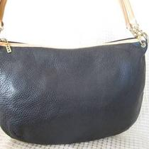 Genuine Maxx New York Black Leather Hobo Shoulder Bag Photo
