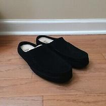 Genuine Mens Ugg Australia Alamar Slip on Slippers Black Size 10 New Photo