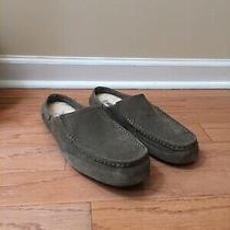 Genuine Mens Ugg Australia Alamar Slip on Slippers Grey Size 12 New Photo