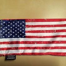 Genuine Oaikley American Flag Sunglasses & Cleaning  Bag. Photo