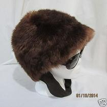 Genuine Tuscan Lamb Skin Fur Hat  Sheepskin Shearling Brown Fashion Toque Italy  Photo