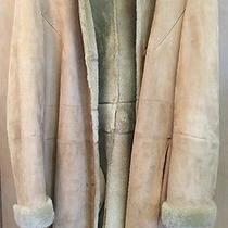 Genuine Vakko Elements Spanish Lamb Suede & Shearling Women's Coat Jacket Sz L  Photo