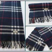 Genuine Vintage Burberry of London Lambswool Scarf Black Giant Check Immaculate Photo