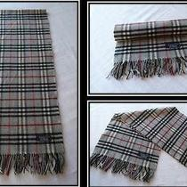 Genuine Vintage Burberry of London Lambswool Scarf Grey Nova Check Immaculate Photo